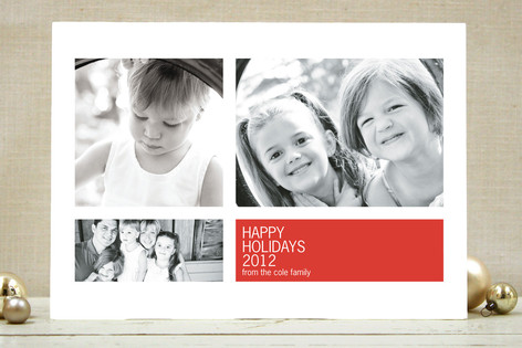 Modern Geometric Group Christmas Photo Cards