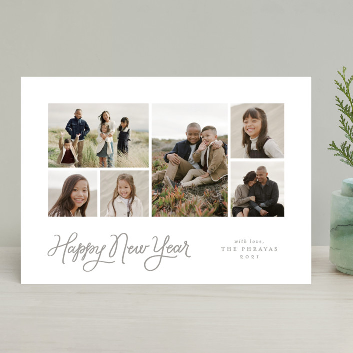 """""""pure & simple"""" - Christmas Photo Cards in Chimney Smoke by Jennifer Wick."""