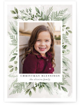This is a green photo christmas card by Susan Moyal called Blessings Forever with standard printing on smooth signature in standard.