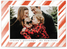 This is a orange photo christmas card by Lauren Semmer called candycane swirl with standard printing on smooth signature in standard.