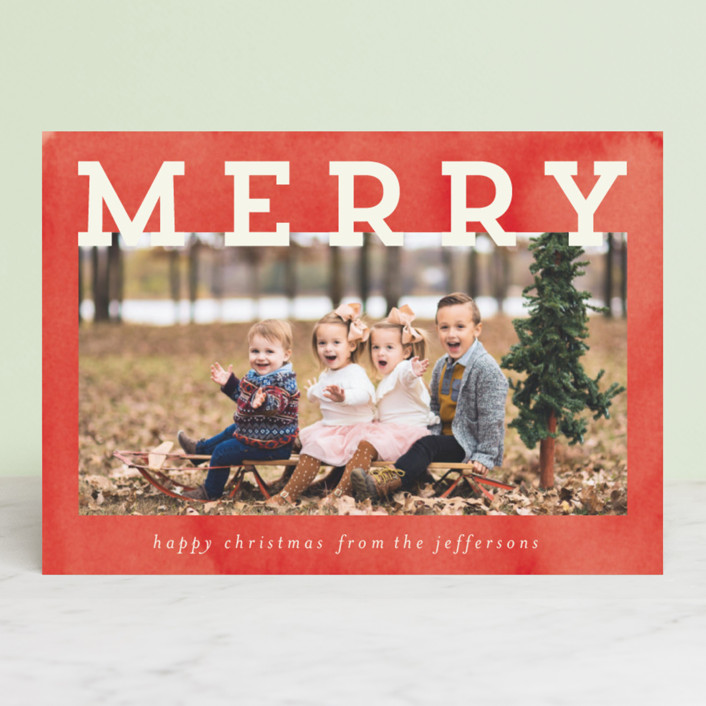 """""""Merry and Silly"""" - Vintage Christmas Photo Cards in Stocking by Chris Griffith."""
