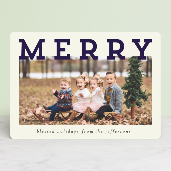 """""""Merry and Silly"""" - Vintage Christmas Photo Cards in Holly Berry by Chris Griffith."""