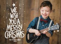 Retro Worded Tree Christmas Photo Cards By Lea Delaveris