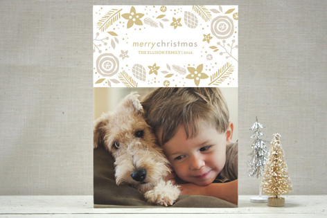 Organic Elegance Christmas Photo Cards
