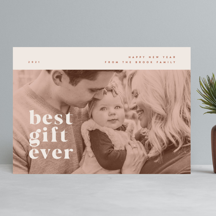 """""""our best gift ever"""" - Christmas Photo Cards in Chocolate by Anastasia Makarova."""