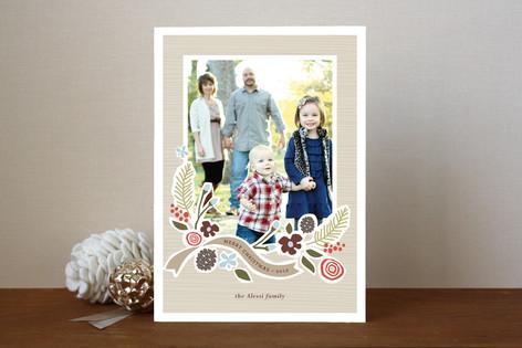 Wintry Pine Christmas Photo Cards