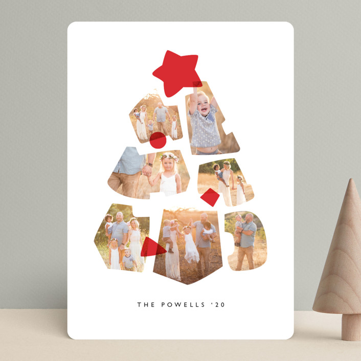 Shapes Tree Holiday Card