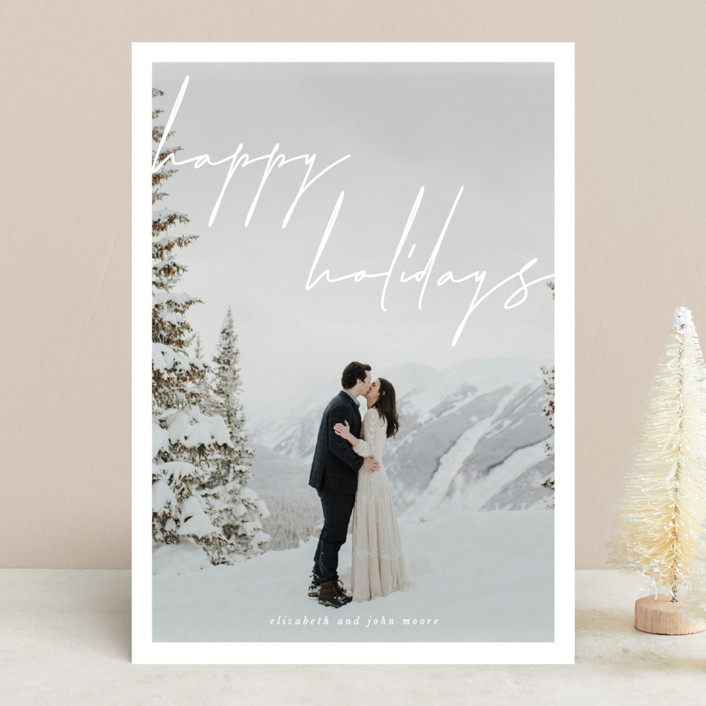 """the edit"" - Christmas Photo Cards in Snow by Sara Hicks Malone."