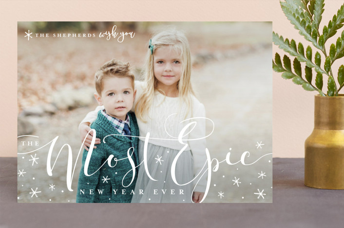 """merriest season ever"" - Christmas Photo Cards in Snow by Guess What Design Studio."