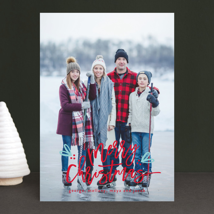 """""""Berries of fun"""" - Christmas Photo Cards in Icicle by Michelle Poe."""