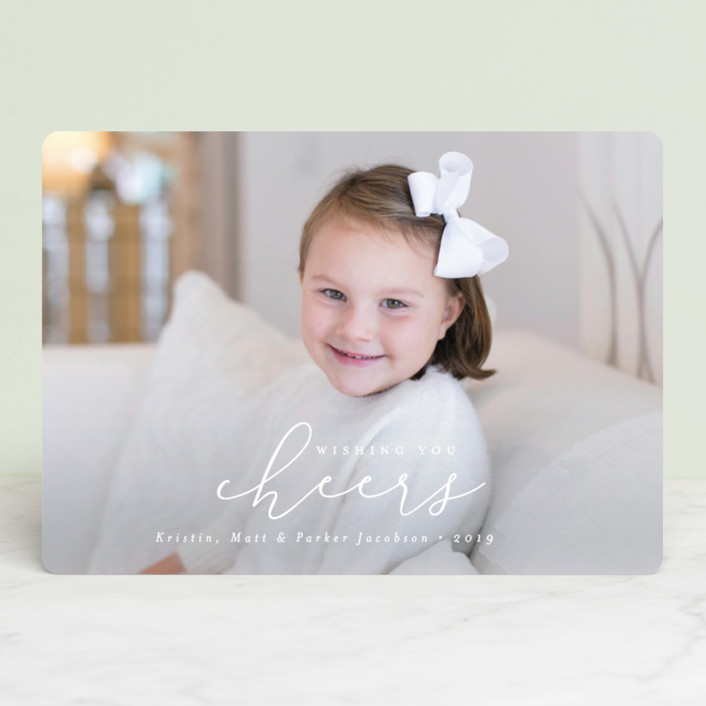 """""""Simply Christmas"""" - Christmas Photo Cards in Snow by peony papeterie."""