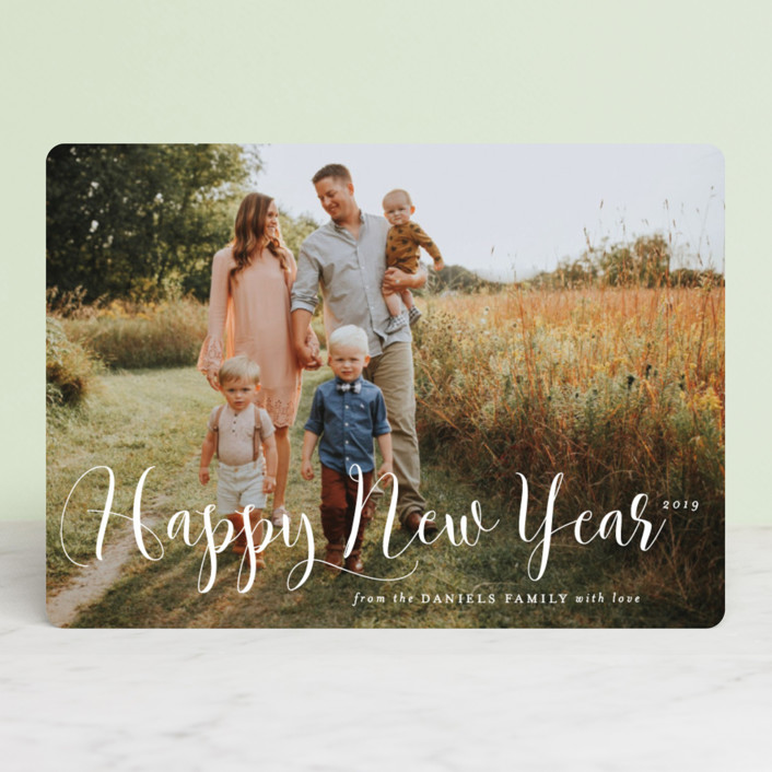 """""""Simply Splendid"""" - Christmas Photo Cards in Snow by Design Lotus."""