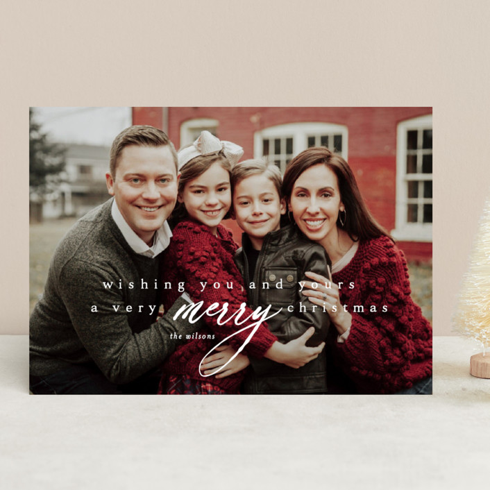 """wishing you & yours"" - Christmas Photo Cards in Winter by Kasia Labocki."