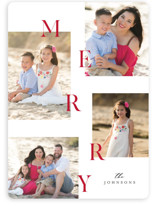This is a red photo christmas card by Pixel and Hank called Merry all the way with standard printing on smooth signature in standard.