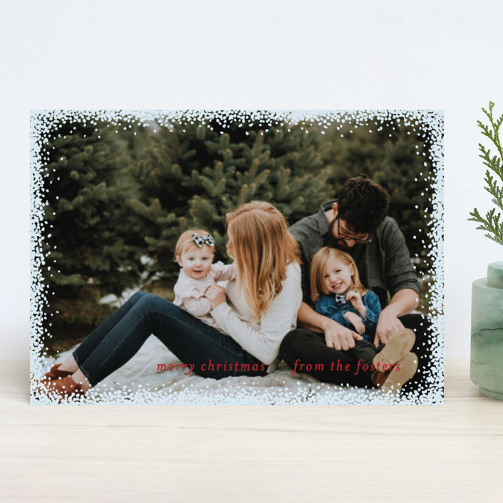 """""""Holiday Frame"""" - Christmas Photo Cards in Golden by Julia Hall."""