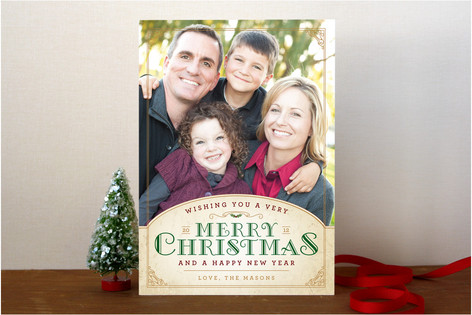 Vintage Christmas Wishes Christmas Photo Cards