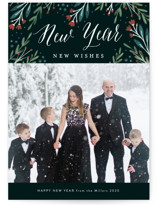 This is a green photo christmas card by Kelly Nasuta called Floral Wonder with standard printing on smooth signature in standard.