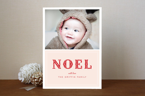 Noel Stardust Christmas Photo Cards