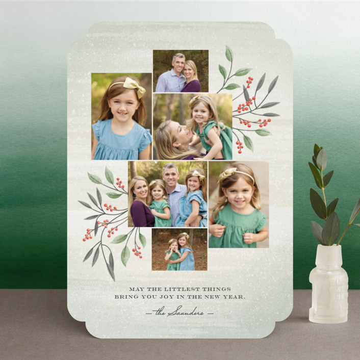 """Littlest Things"" - Christmas Photo Cards in Fern by Ann Gardner."