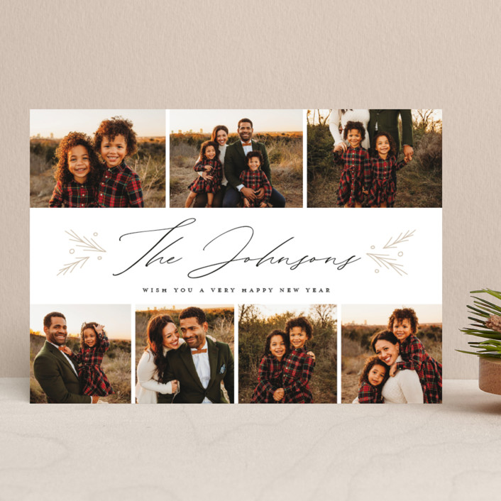 """""""Elegant Signature"""" - Christmas Photo Cards in Icing by Nicole Barreto."""