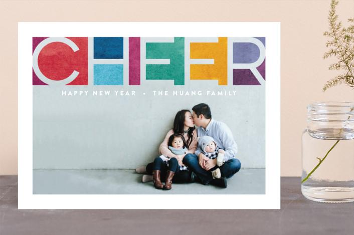"""""""Prismatic Faith"""" - Christmas Photo Cards in Rainbow by Hooray Creative."""