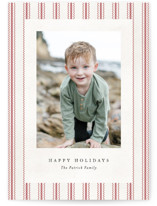 This is a red photo christmas card by Amy Payne called Farmhouse Linen with standard printing on triplethick in standard.