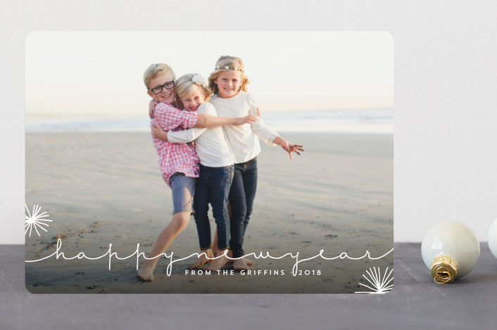 """Nonchalant"" - Christmas Photo Cards in Snow Drift by Design Lotus."