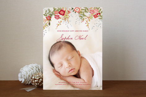 Fleur de Noel Christmas Photo Cards