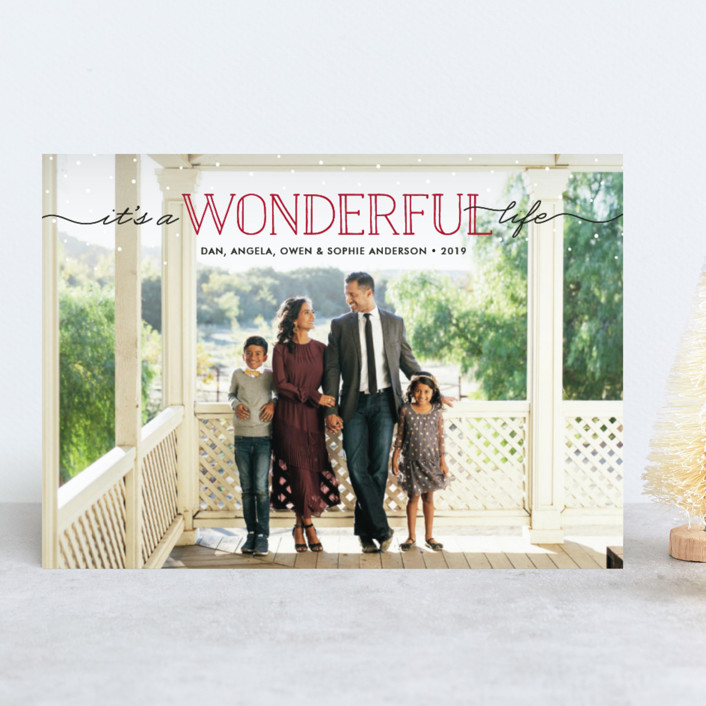 """""""Wonderment"""" - Christmas Photo Cards in Holly by Beth Schneider."""