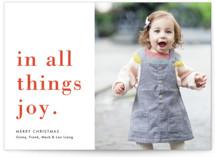 Joy Always Christmas Photo Cards By Amy Kross