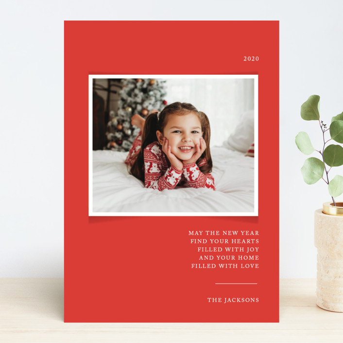 """""""Simplicity"""" - Christmas Photo Cards in Cardinal by That Girl Press."""