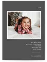 This is a grey photo christmas card by That Girl Press called Simplicity with standard printing on smooth signature in standard.