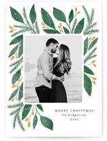 This is a yellow photo christmas card by Lehan Veenker called Cheerful Greens with standard printing on smooth signature in standard.