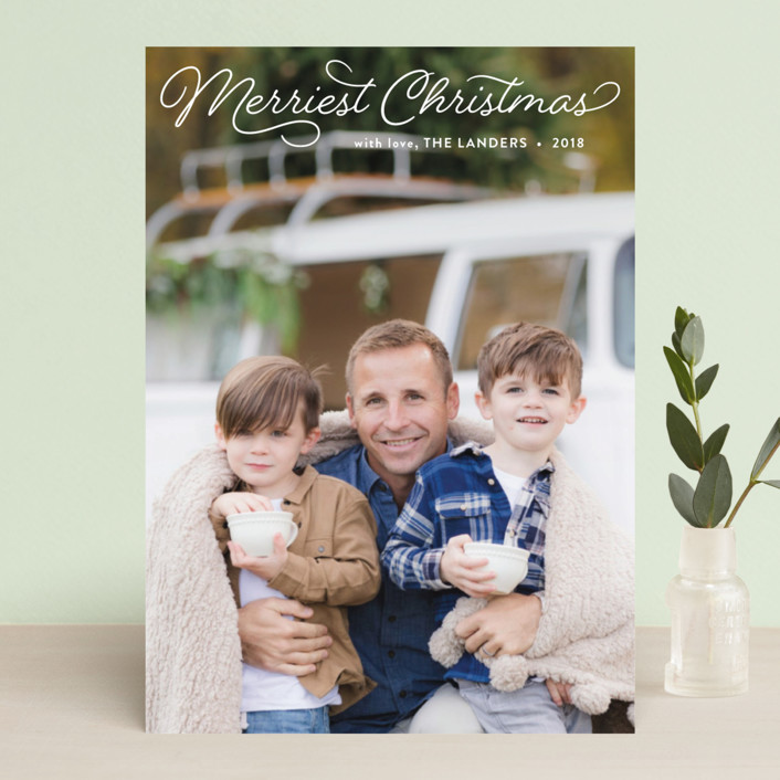 """Merriest"" - Christmas Photo Cards in Snow by Chasity Smith."