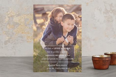 John 3:16 Christmas Photo Cards