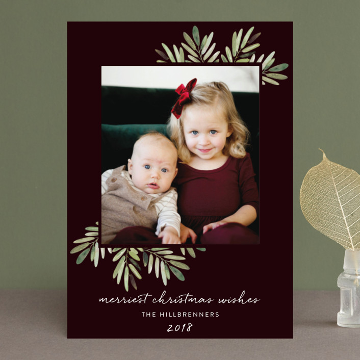 """Al Fresco"" - Christmas Photo Cards in Noir by Haley Warner."