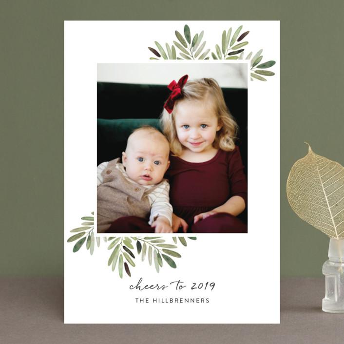 """Al Fresco"" - Christmas Photo Cards in Snow by Haley Warner."