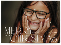 This is a white photo christmas card by Kristie Kern called Folio with standard printing on triplethick in standard.