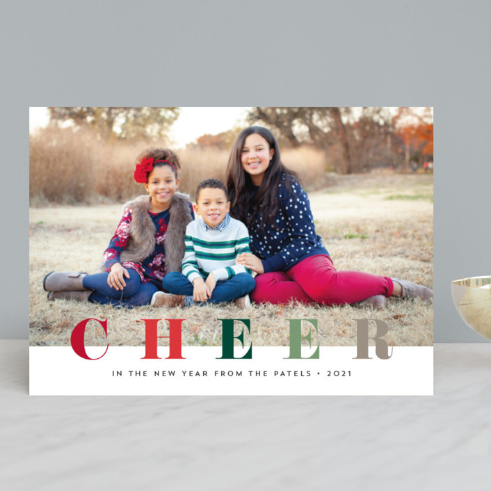 """multi merry"" - Christmas Photo Cards in Puddle by Stacey Meacham."