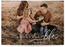 This is a white photo christmas card by chocomocacino called zucotto with standard printing on smooth signature in standard.