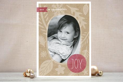 Winter Kraft Christmas Photo Cards