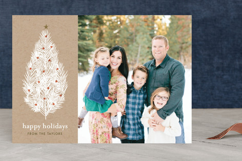 Illustrated Tree Christmas Photo Cards