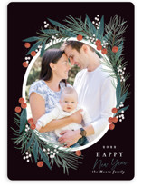 This is a black photo christmas card by Alethea and Ruth called Pine Joy with standard printing on smooth signature in standard.