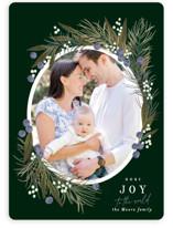 This is a green photo christmas card by Alethea and Ruth called Pine Joy with standard printing on smooth signature in standard.