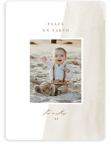 This is a beige photo christmas card by Amy Kross called Simple Wash with standard printing on recycled smooth signature in standard.