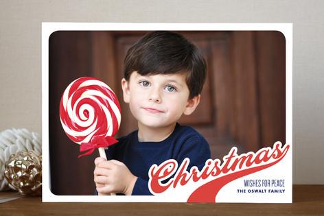 Swoosh of Christmas Christmas Photo Cards
