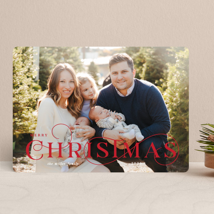 """""""A Classic Christmas"""" - Christmas Photo Cards in Ruby by Lauren Chism."""