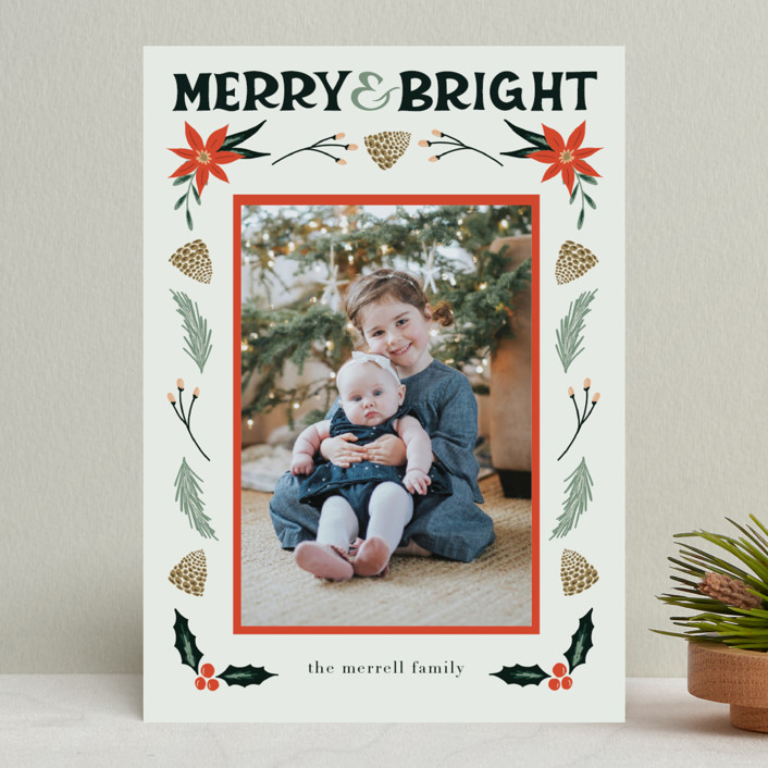 """""""Merry, Bright"""" - Christmas Photo Cards in Fog by Amanda Houston."""
