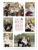 This is a purple photo christmas card by Michelle Poe called Holly Jolly Holla with standard printing on smooth signature in standard.