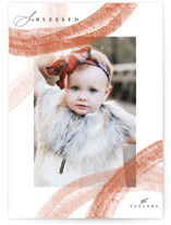 This is a orange photo christmas card by Grace Kreinbrink called Corner Strokes with standard printing on smooth signature in standard.